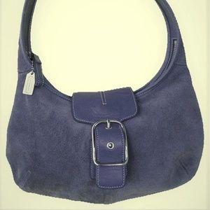 Vintage Coach Suede Hobo Handbag